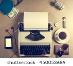 Typewriter And Personal Items...