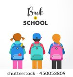 poster with students  kids ... | Shutterstock .eps vector #450053809