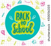 back to school lettering hand... | Shutterstock .eps vector #450056335