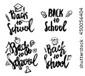 back to school lettering hand... | Shutterstock .eps vector #450056404