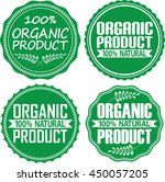 organic product 100  natural... | Shutterstock .eps vector #450057205