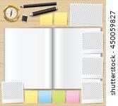 blank opened book. blank book... | Shutterstock .eps vector #450059827