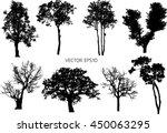 8 set vector trees | Shutterstock .eps vector #450063295