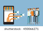 business digital marketing on... | Shutterstock .eps vector #450066271