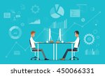 business team working and... | Shutterstock .eps vector #450066331