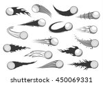 vector black and white flying... | Shutterstock .eps vector #450069331
