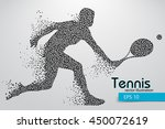 silhouette of a tennis player... | Shutterstock .eps vector #450072619