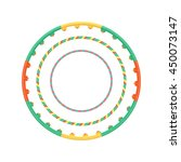 multicolor vector plastic hula... | Shutterstock .eps vector #450073147