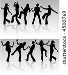 silhouette woman   vectors work | Shutterstock .eps vector #4500769