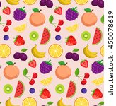 fruits and berries background.... | Shutterstock .eps vector #450078619