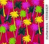seamless pattern with palm... | Shutterstock .eps vector #450081829