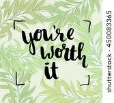 trendy lettering poster. hand... | Shutterstock .eps vector #450083365