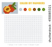 color by number  education game ... | Shutterstock .eps vector #450085321