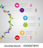 infographic templates for... | Shutterstock .eps vector #450087895