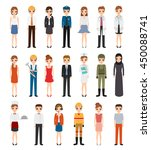 set of people character with... | Shutterstock .eps vector #450088741