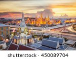grand palace and wat phra keaw... | Shutterstock . vector #450089704