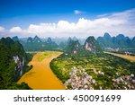 karst mountain landscape on the ... | Shutterstock . vector #450091699