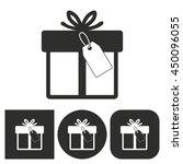 gift box   black and white... | Shutterstock .eps vector #450096055