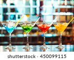 multicolored cocktails at the... | Shutterstock . vector #450099115