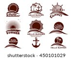 sun and sea icons set. hello... | Shutterstock .eps vector #450101029