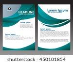 vector green brochure flyer... | Shutterstock .eps vector #450101854