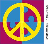 puzzles of peace symbol. sign... | Shutterstock .eps vector #450104521
