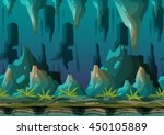 cartoon vector cave landscape...