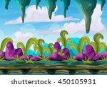 cartoon vector cave landscape...