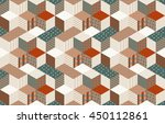 seamless patchwork pattern with ... | Shutterstock .eps vector #450112861