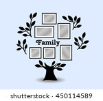 memories tree with picture... | Shutterstock .eps vector #450114589