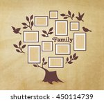memories tree with picture... | Shutterstock .eps vector #450114739