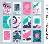 art business card  gallery... | Shutterstock .eps vector #450120811