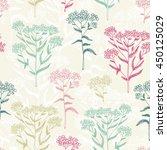 flower seamless pattern  vector ... | Shutterstock .eps vector #450125029