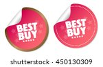 best buy stickers | Shutterstock .eps vector #450130309
