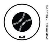 baseball ball icon. thin circle ... | Shutterstock .eps vector #450133441