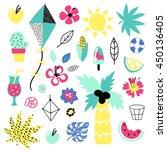 summer vector elements... | Shutterstock .eps vector #450136405