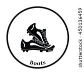 baseball cleats icon. thin... | Shutterstock .eps vector #450136459