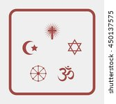 religion signs. | Shutterstock .eps vector #450137575