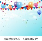colorful birthday bunting flags ... | Shutterstock .eps vector #450138919
