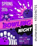 bowling tournament poster... | Shutterstock .eps vector #450146731