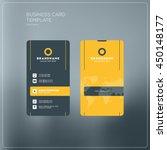 vertical business card print... | Shutterstock .eps vector #450148177