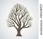 hand draw tree with leaves | Shutterstock .eps vector #450148927