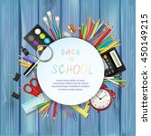 back to school background with...   Shutterstock .eps vector #450149215
