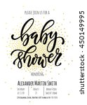 baby shower invitation card... | Shutterstock .eps vector #450149995