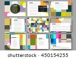 set of 9 vector templates for... | Shutterstock .eps vector #450154255