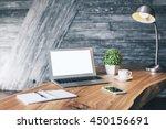 Wooden Designer Desktop With...