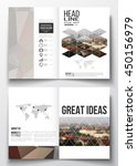set of business templates for... | Shutterstock .eps vector #450156979