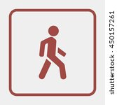 man walk icon. | Shutterstock .eps vector #450157261