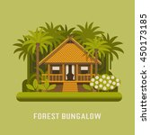 forest bungalow summer house in ... | Shutterstock .eps vector #450173185