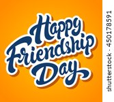 happy friendship day hand drawn ... | Shutterstock .eps vector #450178591